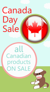 Canada Day Sale at the Little Monkey Store