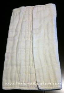 Prefold cloth diaper fold