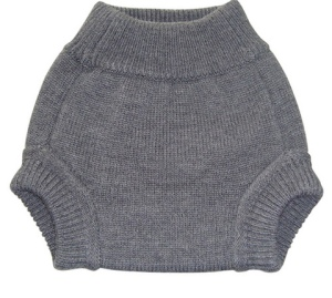 sloomb knit wool diaper cover - charcoal