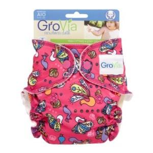 GroVia newborn cloth diaper Peacock